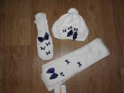 Теплый комплект берет+варежки и шарф gymboree 3-5