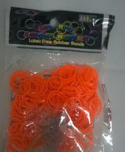 Набор из РЕЗИНОК Rubber Band  200 шт оранжевый