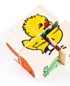 Томик-Кубики «Сложи рисунок: животные»
