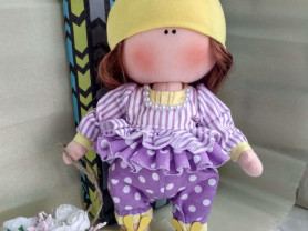 Текстильная кукла ручной работы 25 см