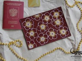 Обложка на паспорт с ручной росписью