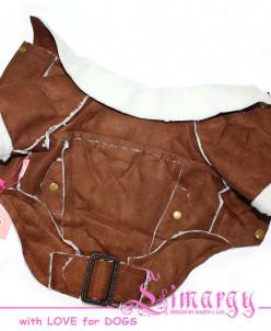 Дубленка 'Zam' коричневая