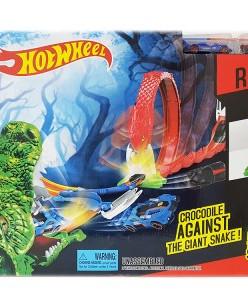оночный трек Hot Wheels Crocodile PK Giant Snake,