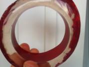 Браслет новый Miss Sixty оригинал прозрачный красный крупный круглый Бижутерия Украшения