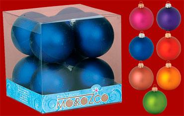 """Набор шаров """"Новогодний"""", диаметр 55 мм, матовый"""