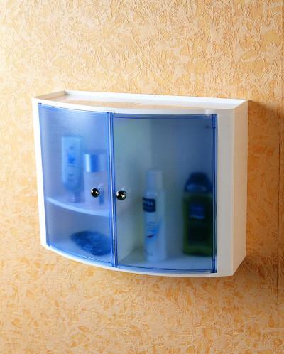 Серия 084 Настенный шкаф с дверцами (цвет: прозрачно-голубой