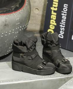 Дутики King Boots KB630SW Schwarz Черный