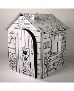 Картонный домик-раскраска «Веселая ферма»