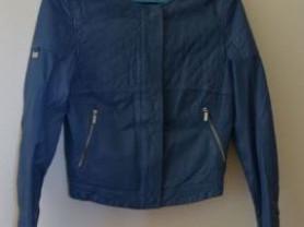 Синяя кожаная куртка OCHNIK