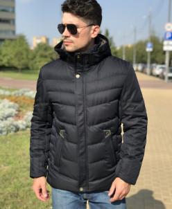 Мужская куртка Е82708-2 темно-синяя