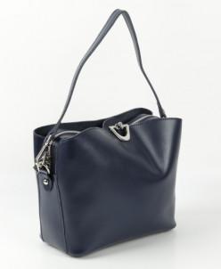 Женская кожаная сумка 10592 Нави