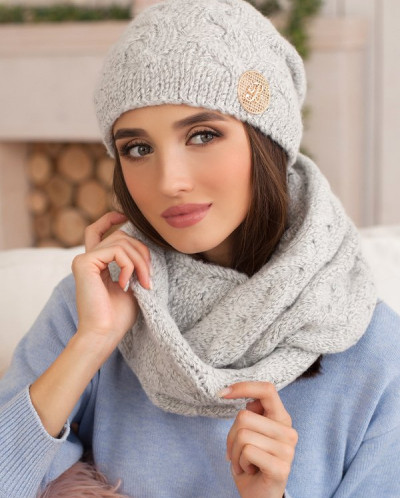 Комплект «Кристель» (шапка и шарф-снуд) 4396-8 от Braxton