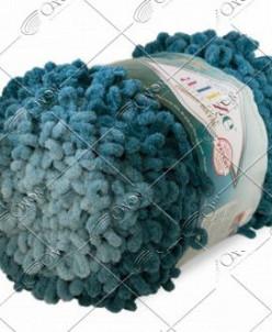 "Пряжа ALIZE ""PUFFY FINE OMBRE batik"" (500 г) 7263 (морск.вол"
