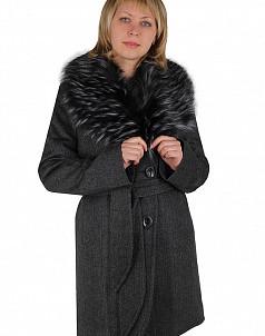 Пальто зимнее Итальянский твид Серый