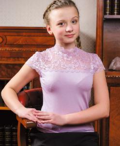 Трикотажная блузка Н*аоми сирень