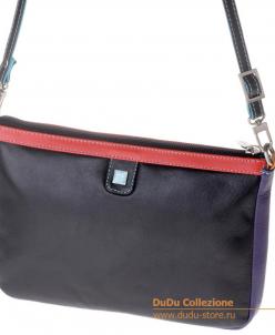 Кожаная сумка DuDu Bags серии Togean | черный пэчворк