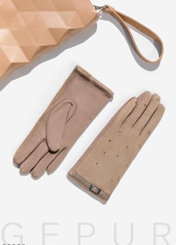 Перчатки с мерцающим декором