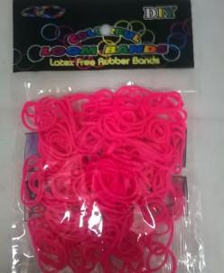 Набор из РЕЗИНОК Rubber Band  200 шт розовый