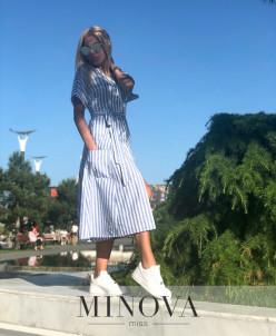 Платье №1198-Синий
