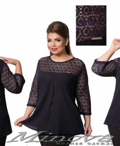 Блуза №1509 (Т.Синий)