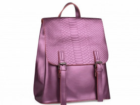 Новый женский кожаный рюкзак  фиолетовый