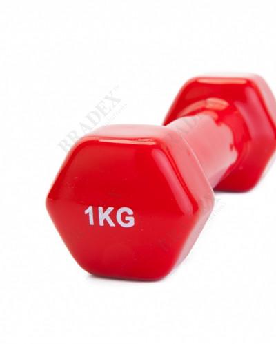 Гантель обрезиненная 1 кг