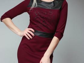 Платье из плотного трикотажа прилегающее по фигуре