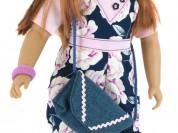 Кукла Джеральдин, в цветастом комбинезоне, 62 см