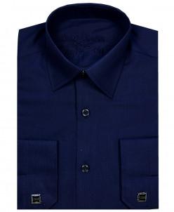 Рубашка для мальчика,Dast Cardin,арт.201,т-синяя,Slim Fit