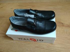 Новые кожаные макасины для школы мальчику. Walkid