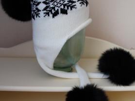 Красивая зимняя шапка 52-54см,54-56см.Новая