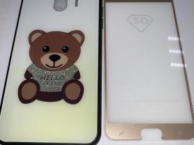чехол и стекло Samsung J4(2018)