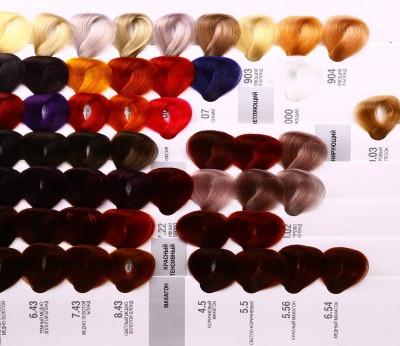 Палитра краски капус профессиональная фото на волосах