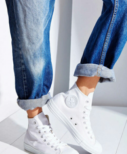 Белые высокие Converse AllStars!