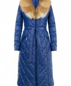 05-1702 Куртка зимняя (Синтепух 300) пояс Плащевка Синий