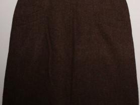 Юбка драповая прямая коричневая - р.54-56