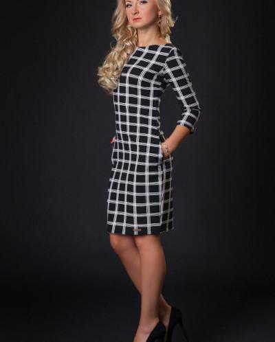 Платье № 878-черный
