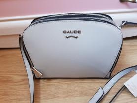Новая лакированная кожаная сумка Италия серая