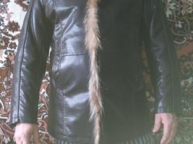 Куртка зимняя,кожаная мужская на меху.