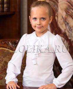 Трикотажная блузка  В*италина белая