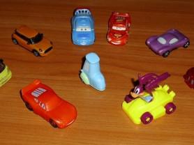 Машинки 11 штук Disney Pixar номера