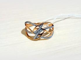 Кольцо золотое с фианитами N25