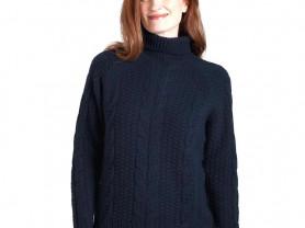 Woolovers свитер с косами из шерсти ягненка