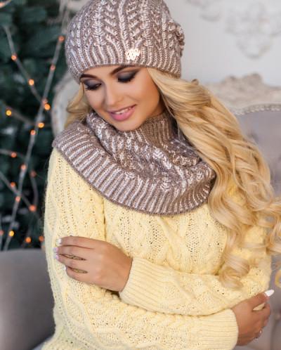 Комплект«Онорин» (шапка и шарф-хомут) 4451-7