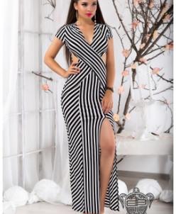 Платье тельняшка в пол - 9493