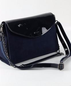 Женская кожаная сумка АМ003 Синий