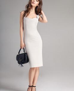 Р1137 платье  Цвет: жемчуг
