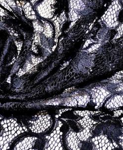 Винтажное вискозное кружево, цвет: черный принц