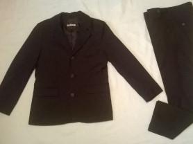 Костюм пиджак, брюки, новая белая рубашка140р-р