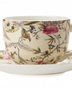 Чашка с блюдцем Летние цветы в подарочной упаковке